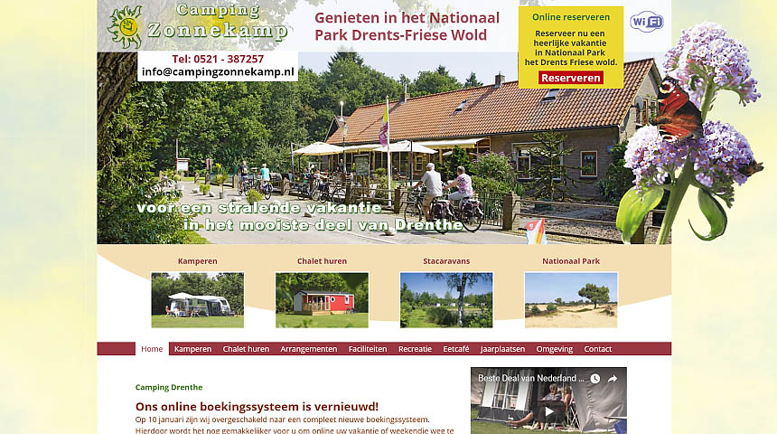 Website Camping Zonnekamp