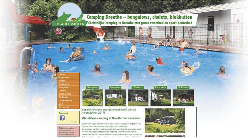 Website Camping de Wolfskuylen
