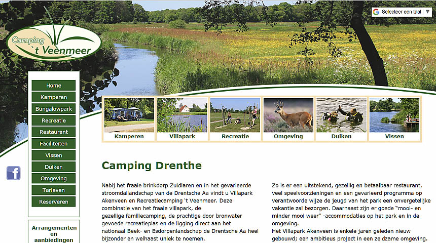 Website Camping Veenmeer
