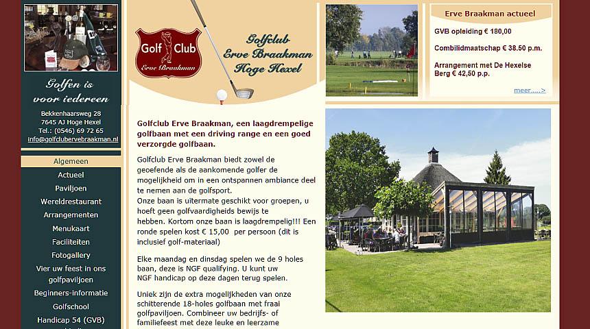 Website Golfclub Erve Braakman